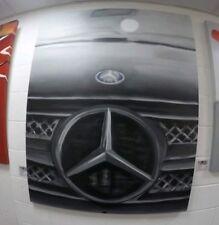 Spray Paint on Canvas Artwork Mercedes Black