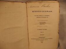 QUENTIN DURWARD rare antique old first edition Sir Walter Scott lot 3 vols 1823