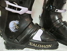 Women's Salomon Snow Ski Boots Size 23.5 or 6 1/2 used only once Easy Off & On