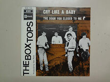 """BOX TOPS:Cry Like A Baby 2:35-The Door You Closed To Me 2:39-Belgium 7"""" 1968 PSL"""