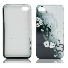 For iPhone 4 4S HARD Protector Case Snap On Phone Cover Geisha Butterflies
