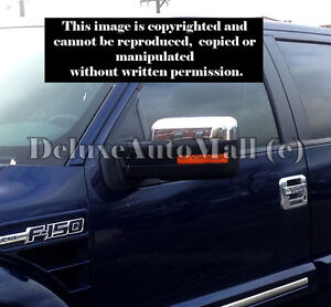 TOP-Half Chrome Mirror Covers FOR 2009 2010 2011 2012 2013 2014 Ford F150 F-150