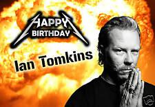 James Hetfield Metallica thrash heavy metal music PERSONALISED Birthday Card