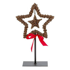 Willow STAR su Stand ~ Rosso con Fiocco Decorativo Casa Natale Ornamento 81-1566