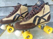 VTG 70s 80s Roller Skate Derby Bellatrix Men Sz 11 Hardly Worn Brown Yellow Boot