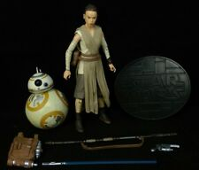 Star Wars Disney Elite Series Rey and BB-8 Die Cast Action Figures loose 2015