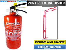 2KG POWDER ABC FIRE EXTINGUISHER HOUSE CAR BOAT OFFICE TAXI + WALL BRACKET NEW