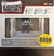 Karaoke PC 8000 SONGS, CANCIONES ESPANOL, Frisby Portable, Rockville Dual 12