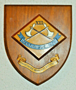 13 (Martinique 1809) Light Battery Royal Artillery regimental plaque shield