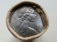 Australia. 1975 20 Cent Mint Roll..  (20 coins  UNC/BU)  In RAM wrapper