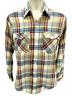 Vintage Levi Strauss & Co. Men's Western Shirt Medium Brown Plaid Long Sleeve