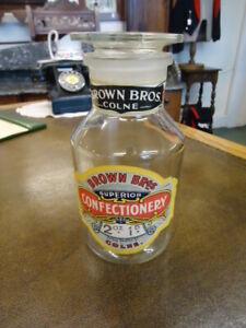Medium Vintage Sweet Jar  With Original Labels