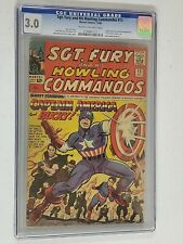SGT FURY AND HIS HOWLING COMMANDOS #13 CGC 3.0 CAPTAIN AMERICA