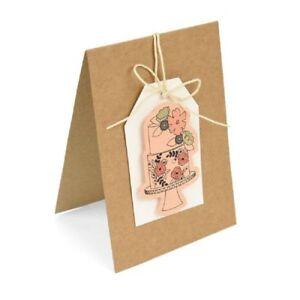 Sizzix Framelits Cutting Die Set With Stamp  Floral Cake 662167 Wedding Birthday