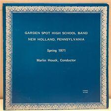 Garden Spot High School Band Spring 1971 LP New Holland PA