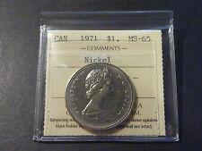 Canada nickel dollar 1971 business strike ICCS MS-65