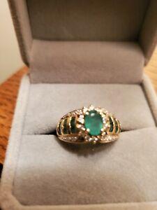 diamond and emerald ring - unique design