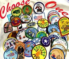 43 Day Camp & Troop Camping Girl Scout Patches 1970-2010 You Choose Combine Ship