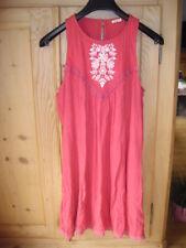 Hollister California Kleid Dress rot M mit Spitze Folklore gehäkelt Top Sommer