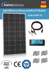 12V 200W Xplorer German Cell Solar Panel Kit   Caravan   Boat   Motorhome