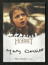 The Hobbit The Battle of the Five Armies Autograph MARY NESBITT as Tilda