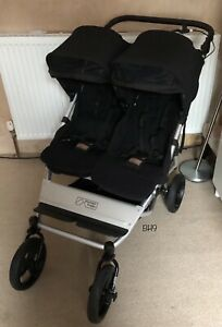 Mountain Buggy Duet V3 Double / Twin Pushchair & Carrycot With Aerotech Wheels