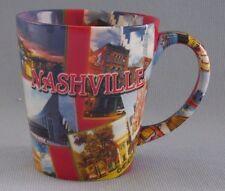 Nashville Souvenir Coffee Cup Mug Decorative Collage Guitar Design In & Out New