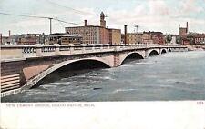 Grand Rapids Cable Car~Cement Bridge~1907 Lily White Flour~Valley City Milling