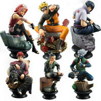 LOT DE 6 FIGURINES NARUTO SASUKE GAARA COLLECTION JOUET