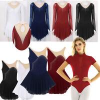 Adult Womens Girls Hem Lyrical Ballet Leotard Ballroom Gymnastics Dress Skirts