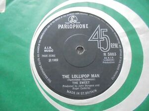 The Sweet - The Lollipop Man 1969 UK 45 PARLOPHONE