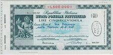 ITALIA REGNO - BUONO POSTALE FRUTTIFERO 500,000 Lire!