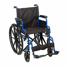 Drive Medical Folding Wheelchair portable Lightweight Transport Travel Seat Care