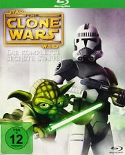 STAR WARS THE CLONE WARS BLU RAY TEMPORADA 6 SEXTA COMPLETA NUEVO