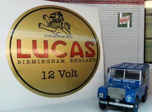 Land Rover Serie 1 80 86 107 88 109 2 2a Lucas Löwe Zeit Batterie Gold Aufkleber