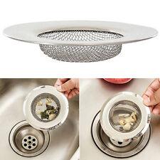 Stainless Steel Mesh Sink Strainer Trap Bath Hair Drain Hole Flume Filter Flower
