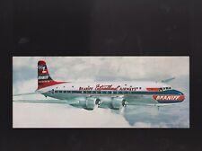 BRANIFF INTERNATIONAL AIRWAYS El Conquistador DC-6 Airline VINTAGE Postcard