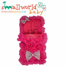 UNIVERSAL FOOTMUFF COSY TOES PERSONALISED PRAM PUSHCHAIR BUGGY STROLLER GIRLS