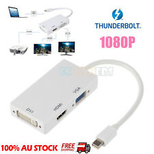 3 in1 Thunderbolt Mini DP Display port to HDMI VGA DVI Adapter Cable for MacBook