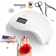 3pcs Set Sunuv 48W Sun5 Led Uv Nail Dryer Solingen Cuticle/Nail Nippers Scissors