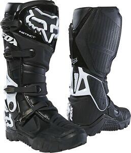 Fox Instinct X Motocross MX OffRoad Race Boots Black Adults