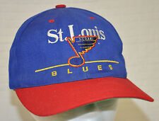 Vtg ST LOUIS Blues TWINS Enterprise HAT Cap Blue RED Note NHL Snapback READ Used