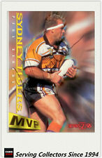 1996 Dynamic Rugby League Series 2 MVP Autographed Card --PAUL SIRONEN
