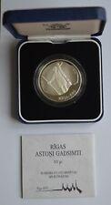 More details for 1996 riga astoni gadsimti silver 10 latu coa