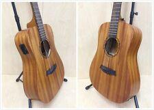 "Caraya 36"" All Mahogany Travel Acoustic Guitar w/Built-in EQ,Tuner+Free Gig Bag"