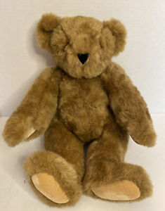 Authentic Brown Vermont Teddy Bear Handmade Born in Vermont Stamped Eyes 16 Inch