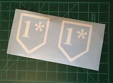 VINYL DECAL STICKER 1* ONE ASTERISK ASS TO RISK MILITARY POLICE LE WHITE SET 2