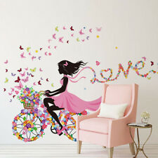 Mädchen Schmetterling Wandaufkleber Wandsticker Wandtattoo Kinderzimmer Dekor