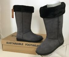 Electric Karma Dakota Rain Boot Pewter Waterproof Ultra Suede Sz 7.5 M