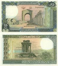 Lebanon 250 Livres Crisp UNC Banknote
